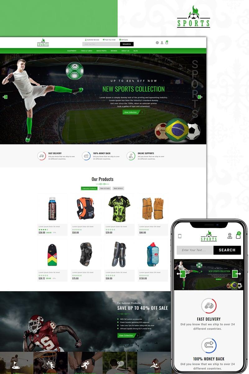 Online Sports Store PrestaShop Theme