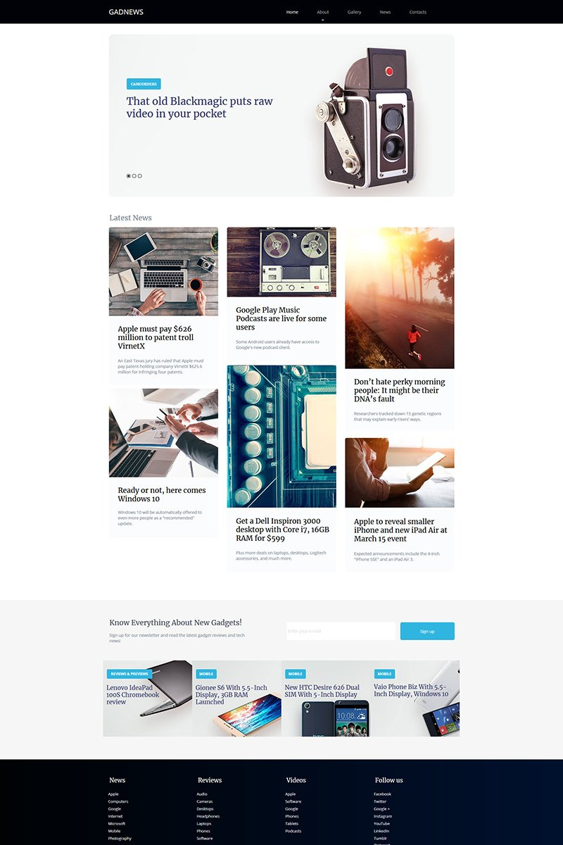 "Plantilla Moto CMS HTML ""Gadnews - Electronics Review"" #77218"