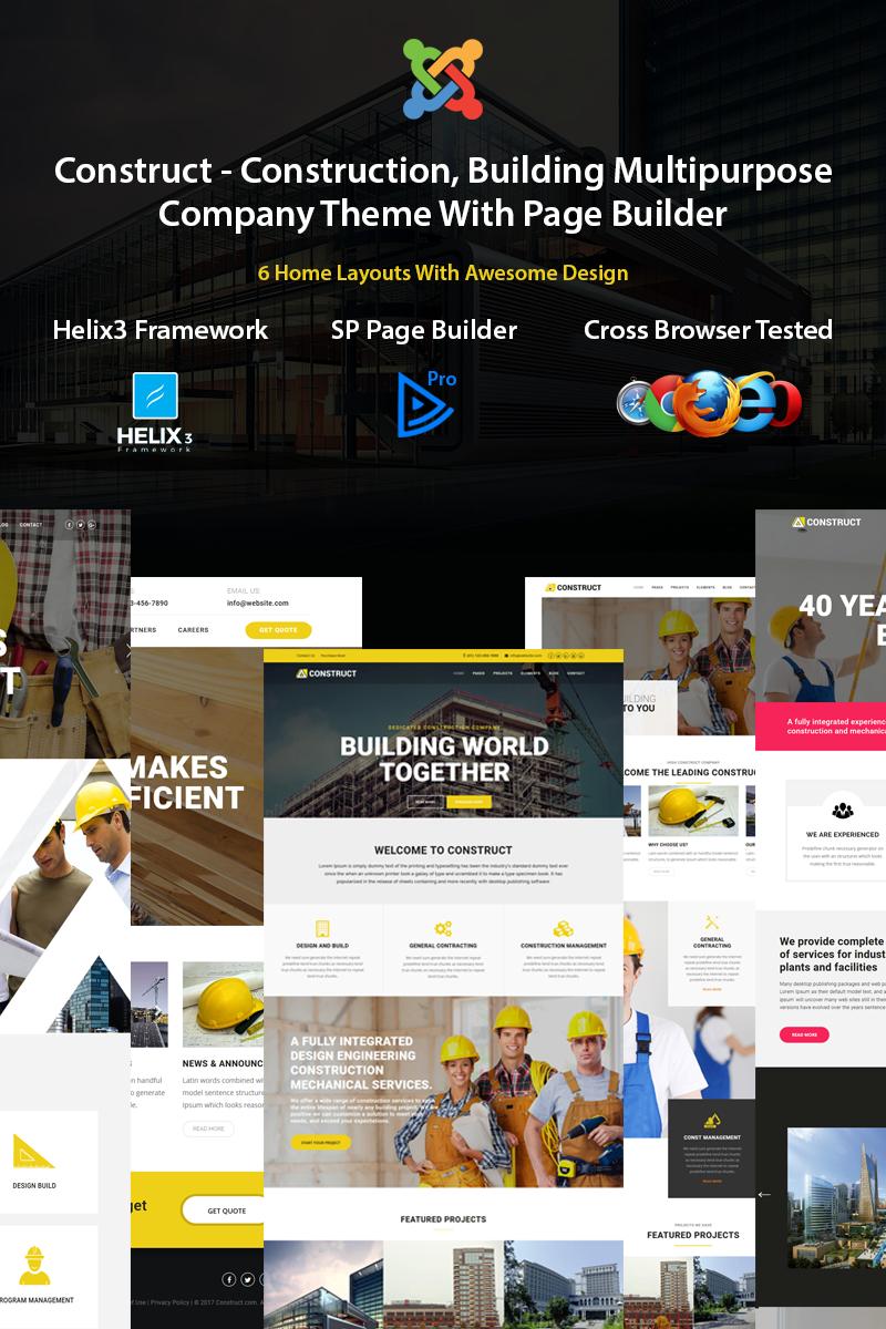 Responsivt Construct - Construction, Building Joomla-mall #77296 - skärmbild