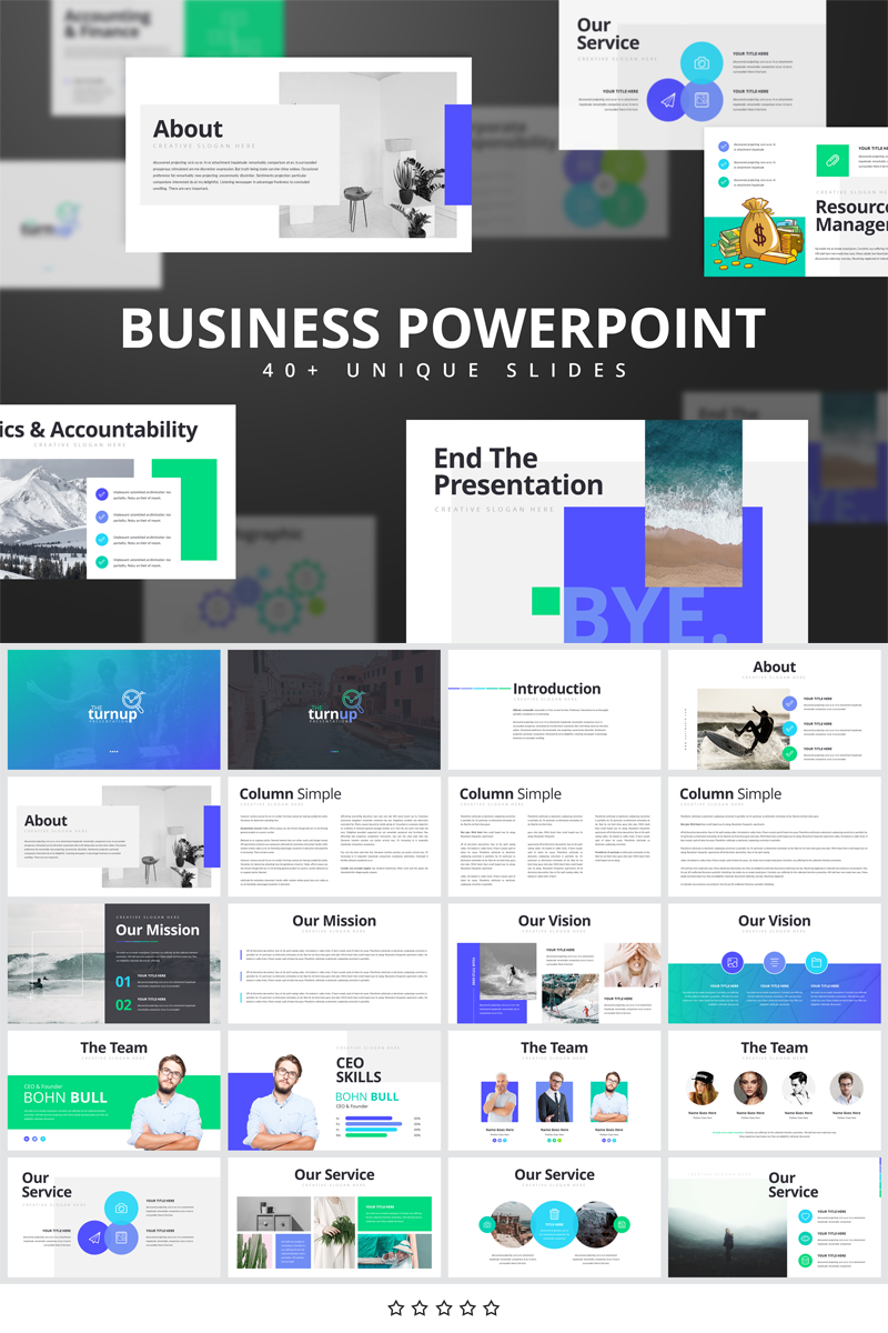 Trunup-Multipurpose Business Presentation PowerPoint Template - screenshot