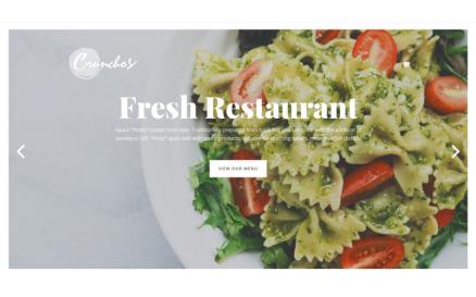 Crunchos - Restaurant Ready-to-Use Modern Elementor WordPress Theme