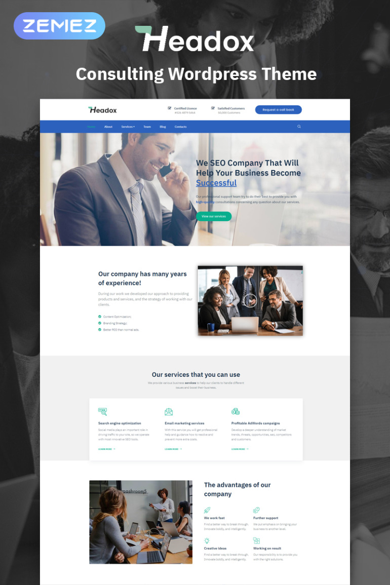 Headox - Consulting Services Multipurpose Elementor WordPress Theme