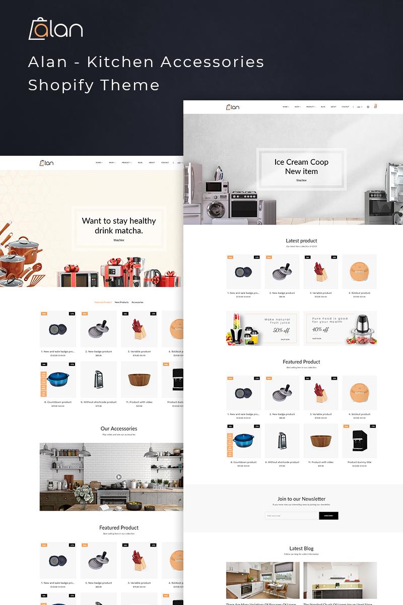 """""""Alan - Kitchen Accessories"""" 响应式Shopify模板 #77391"""