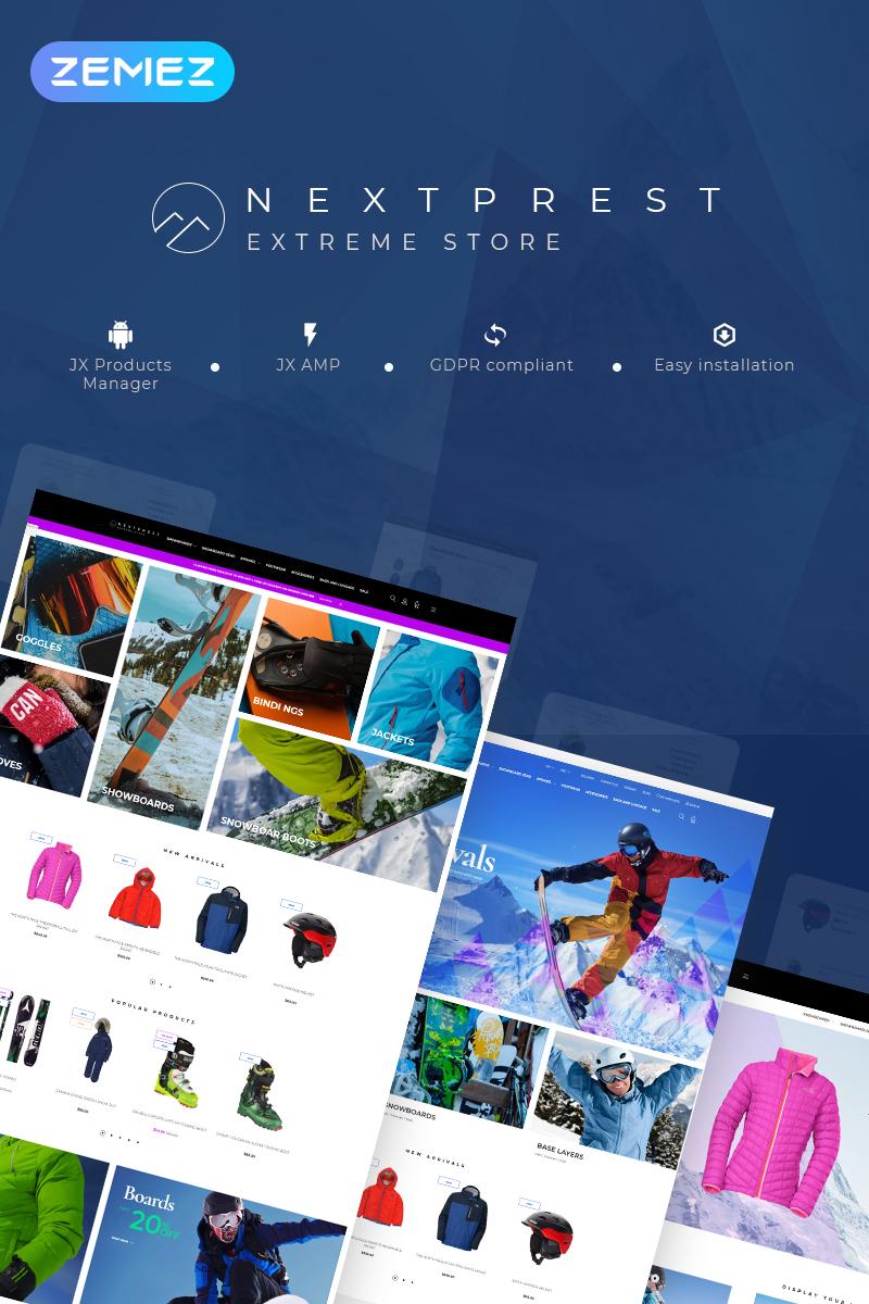 """Nextprest - Extreme Store Clean Bootstrap Ecommerce"" thème PrestaShop adaptatif #77330"