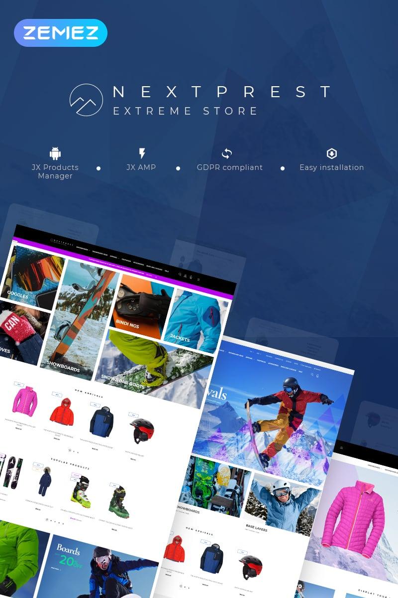 Responsivt Nextprest - Extreme Store Clean Bootstrap Ecommerce PrestaShop-tema #77330
