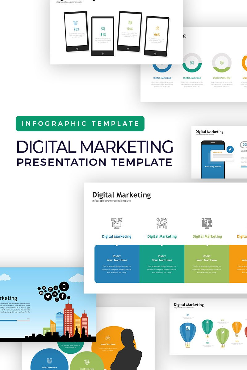 Digital Marketing Presentation - Infographic PowerPoint Template - screenshot
