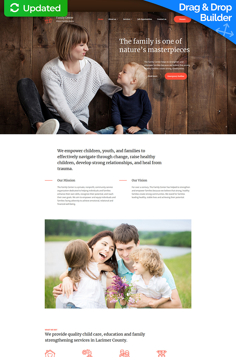 Family Center  - Counseling Templates Moto CMS 3 №77400 - captura de tela