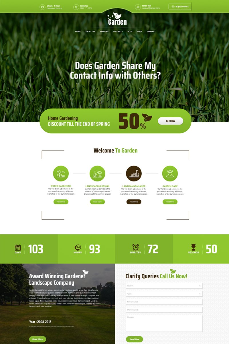 Gardenpro - Landscape & Gardening Website Template