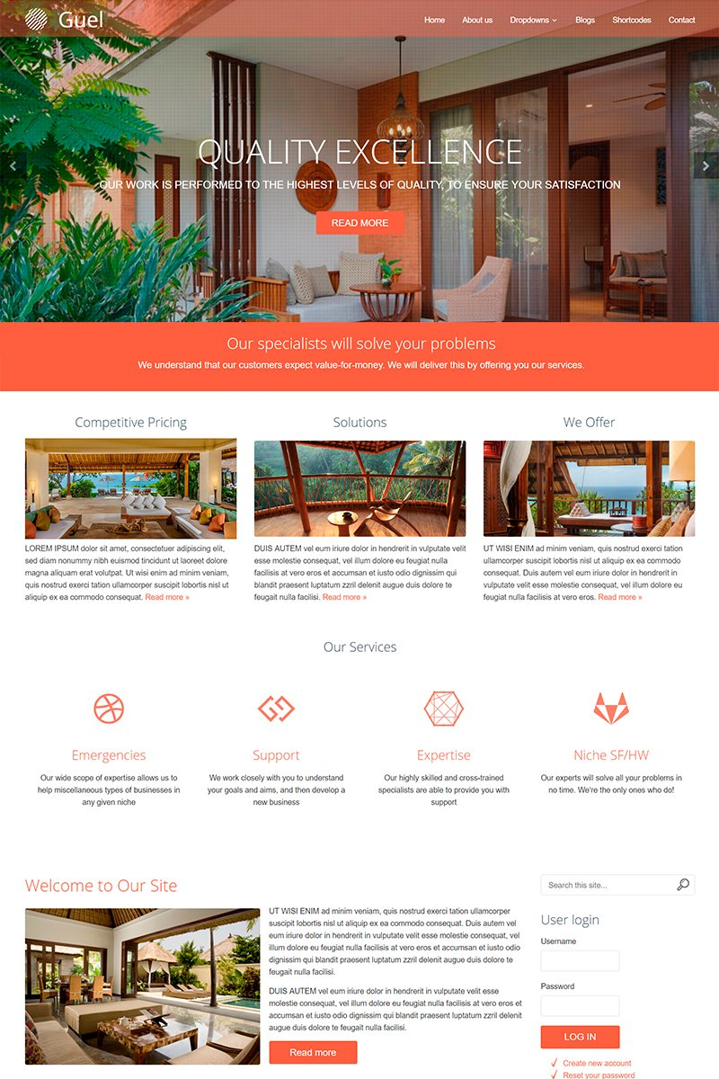 Guel Responsive Multi-Purpose 8 Drupal Template