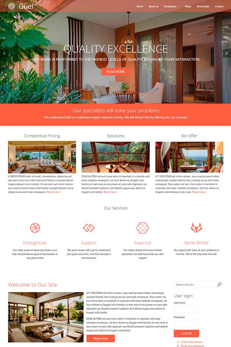 Guel Responsive Multi-Purpose 8 Drupal Template - screenshot