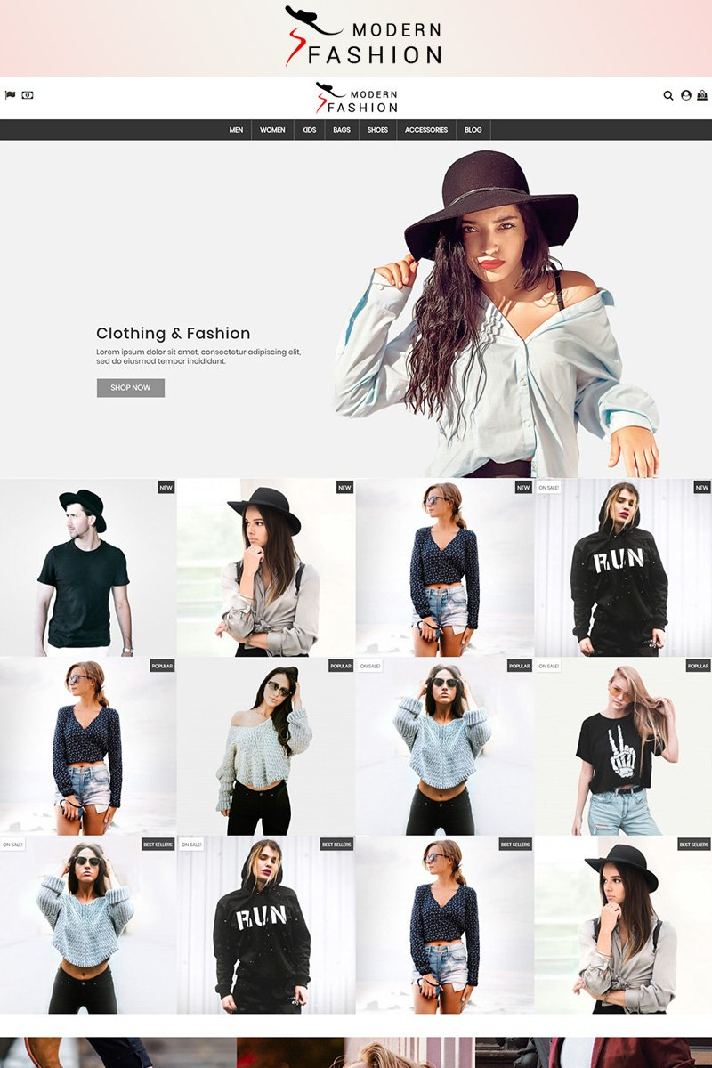 Modern Fashion 1.7 PrestaShop Theme
