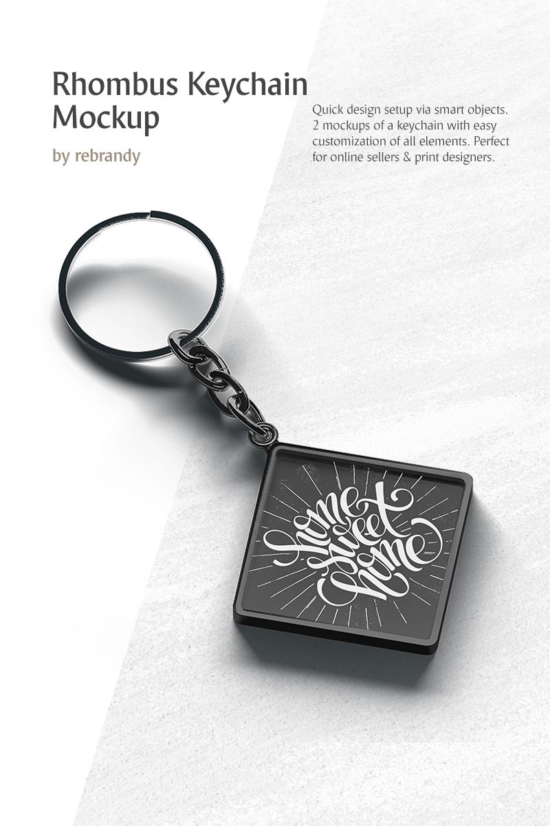 Rhombus Keychain Product Mockup #77404
