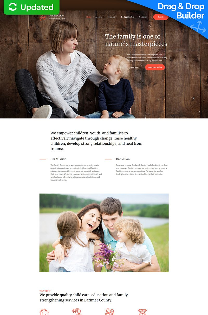 "Tema Moto CMS 3 Responsive #77400 ""Family Center  - Counseling"""