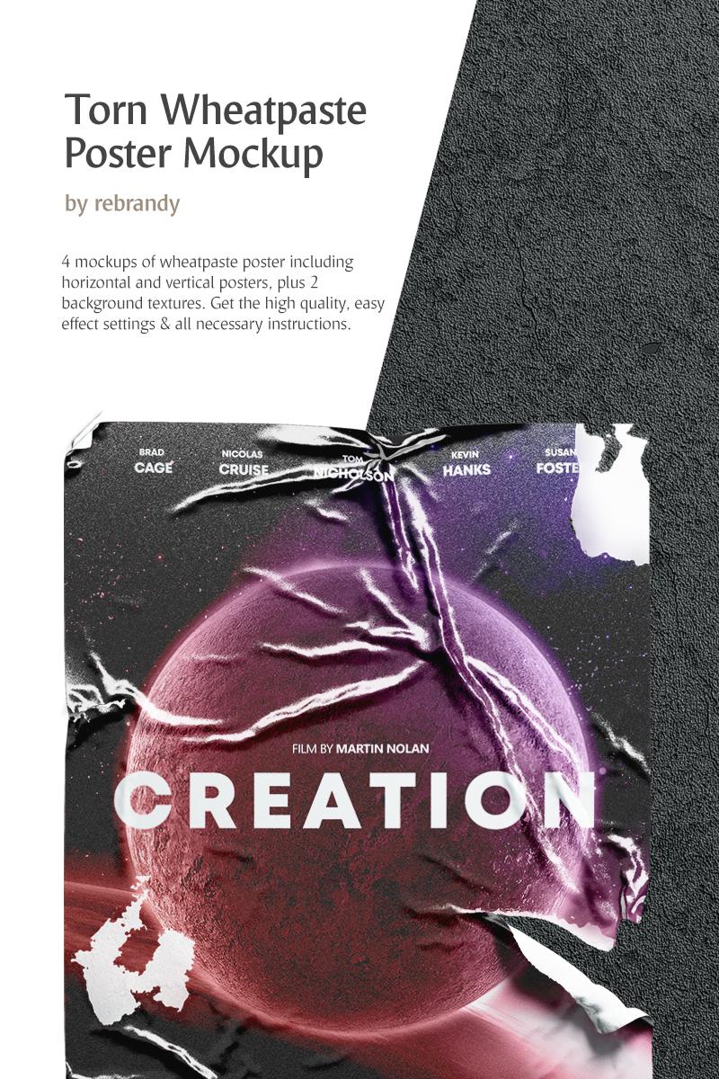 Torn Wheatpaste Poster Product Mockup - screenshot