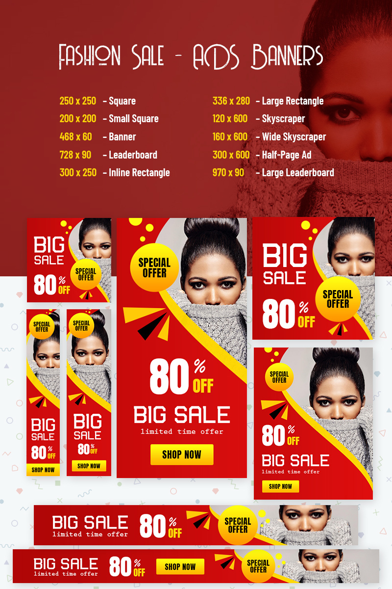 "Animated Banner ""Fashion Sale - ADS"" #77538"