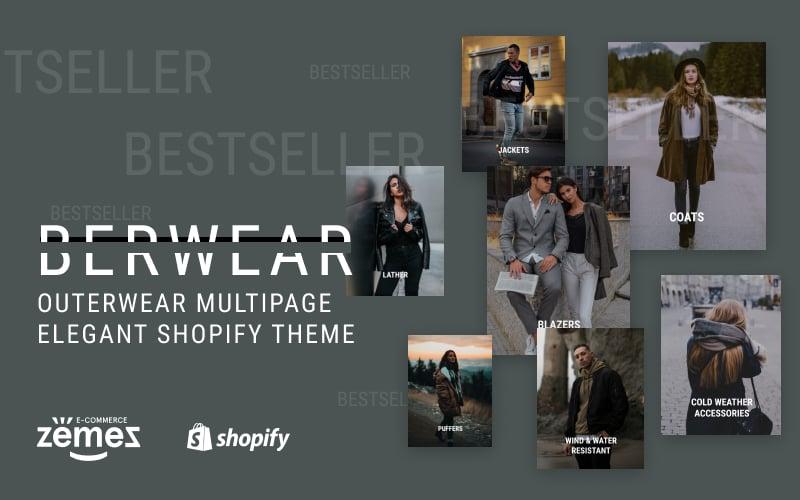 """BERWEAR - Fashion Multipage Elegant"" thème Shopify adaptatif #77541 - screenshot"