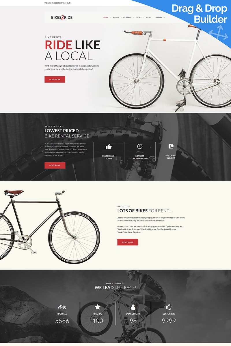 Bikes2Ride - Cycling Moto CMS 3 Template