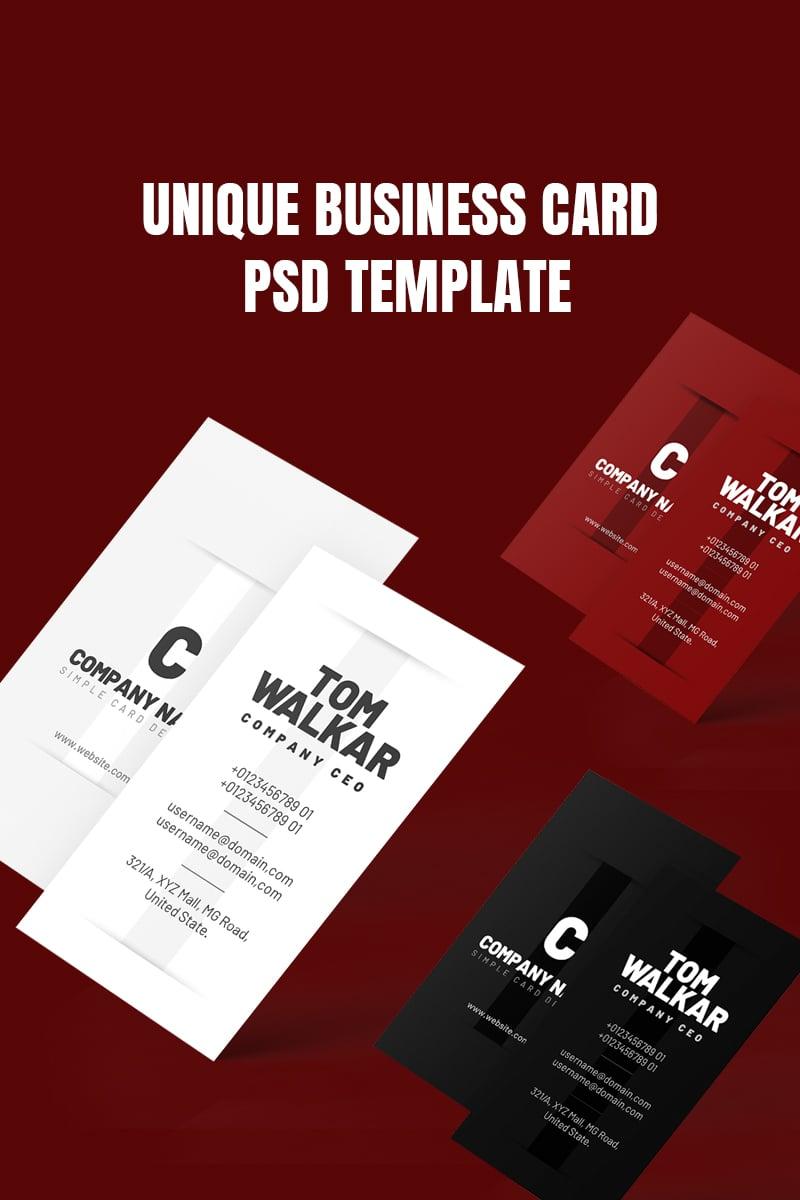 Black Light Business Card Design PSD Corporate Identity Template