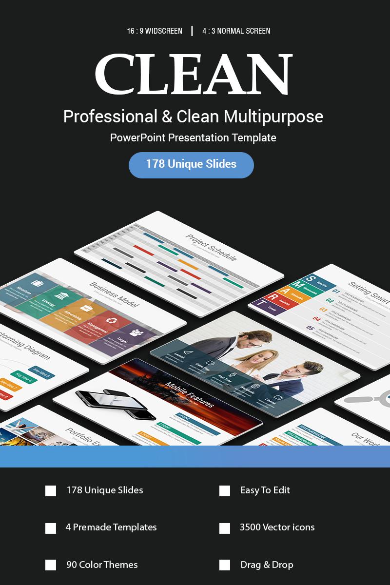 Clean - PowerPoint Template - screenshot
