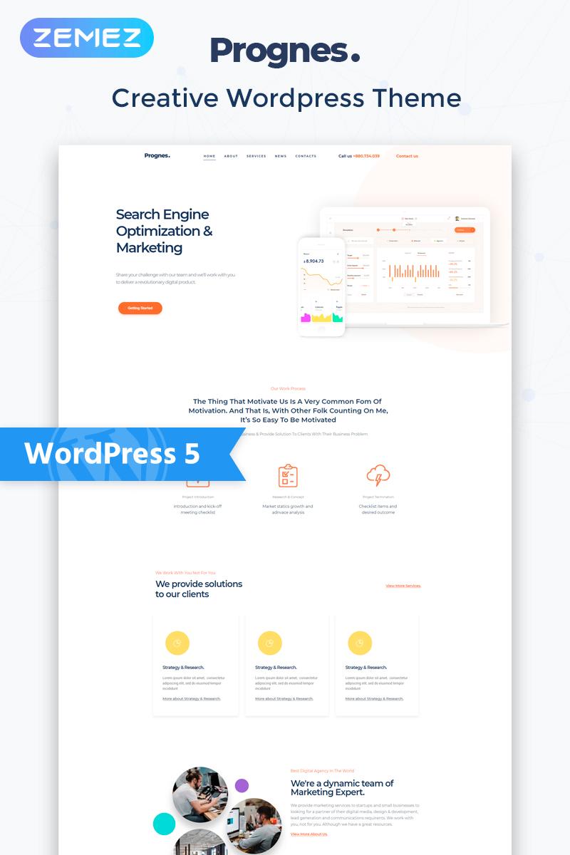 Prognes - Consulting Multipurpose Clean Elementor WordPress Theme - screenshot