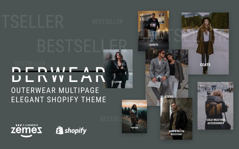Reszponzív BERWEAR - Fashion Multipage Elegant Shopify sablon 77541 - képernyőkép