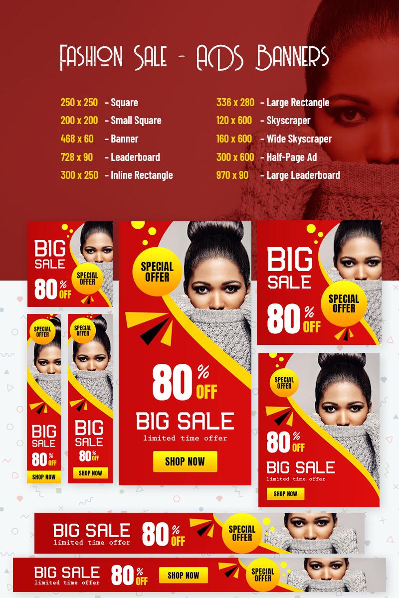 "Tema Animated Banner #77538 ""Fashion Sale - ADS"""