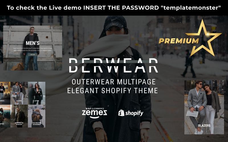 "Tema Shopify ""BERWEAR - Fashion Multipage Elegant"" #77541"