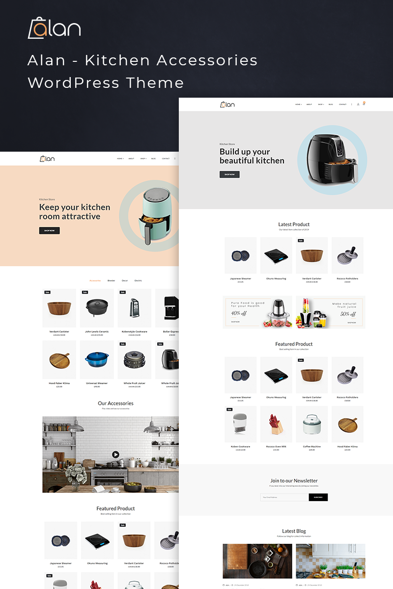 Alan - Kitchen Accessories Grand WooCommerce Theme