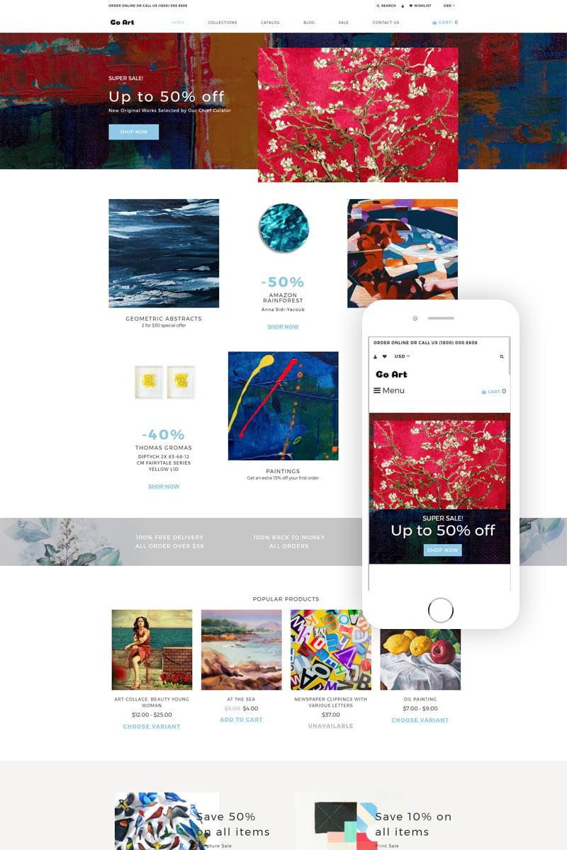 Go Art - Art Clean Creative Shopify Theme