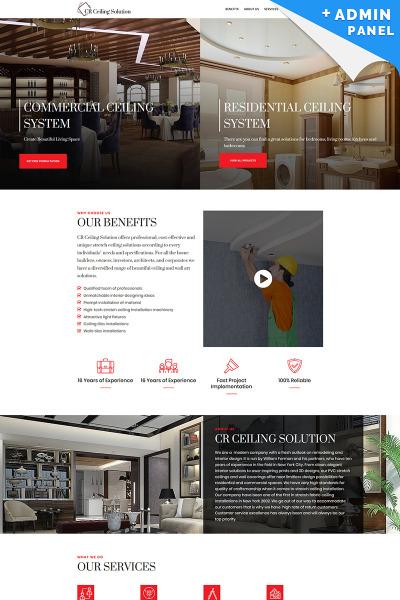 Responsives Landing Page Template für Innenarchitektur