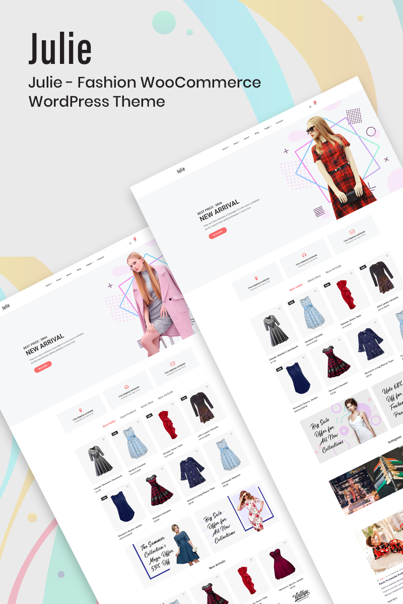 Responsive Julie - Fashion Woocommerce #77647