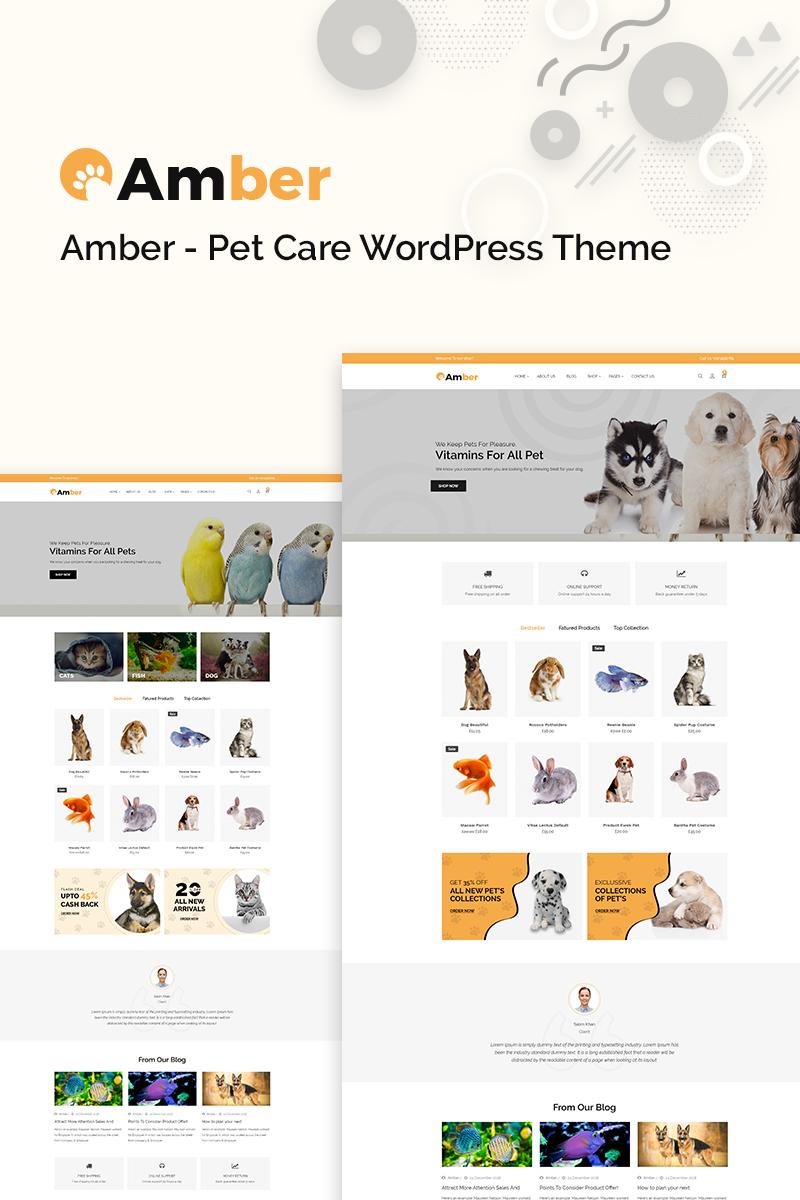 Reszponzív Amber Pet Care WooCommerce sablon 77640