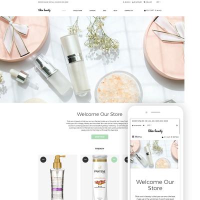 Thème Shopify adaptatif  pour boutique de cosmétique