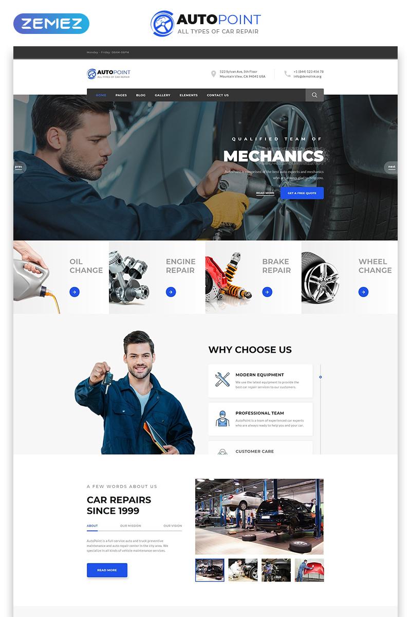 "Website Vorlage namens ""Autopoint - Car Repair Multipage Creative HTML"" #77642"