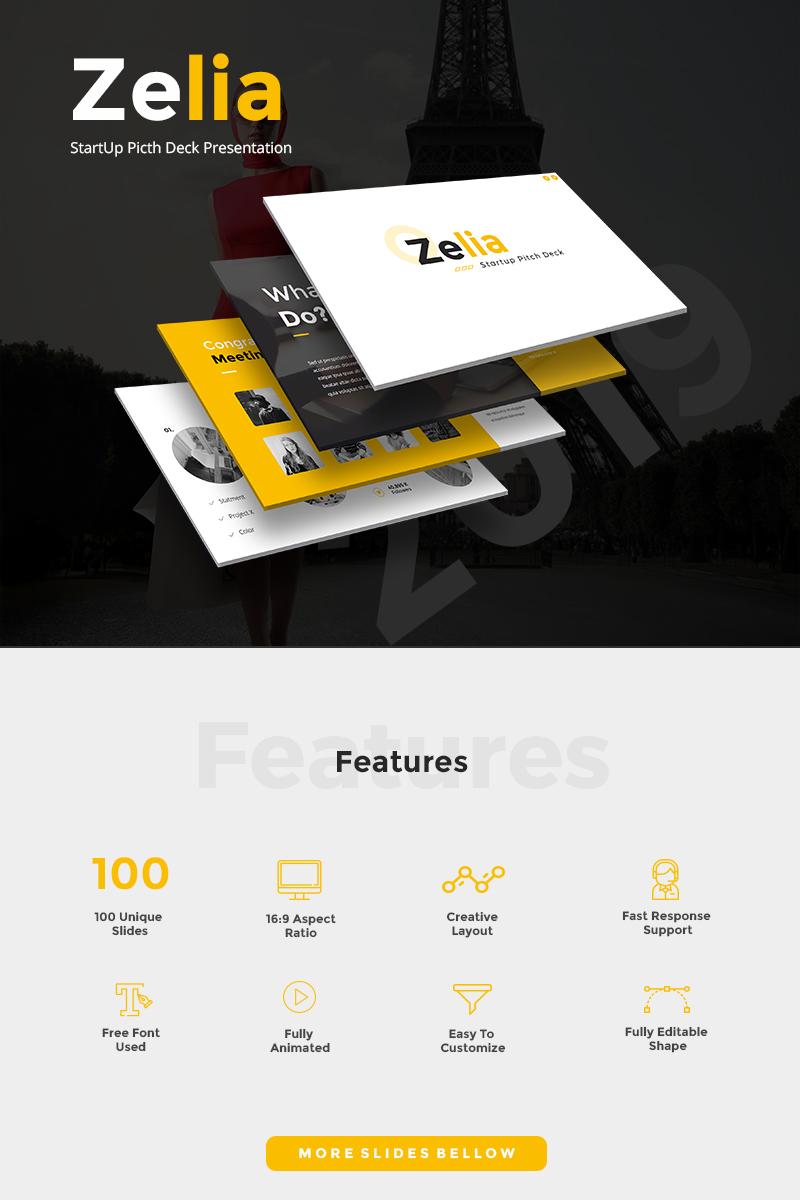 Zelia - StartUp Picth Deck PowerPoint Template - screenshot