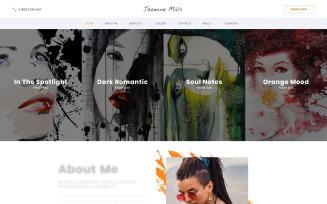 Jasmine Mills - Art Ready-to-Use Creative HTML Website Template