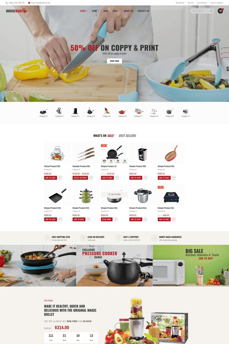"""Houseware - Responsive"" Responsive WooCommerce Thema №77786"