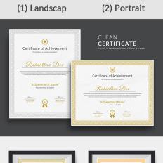 Zertifikat Vorlagen Auszeichnungs Templates Templatemonster