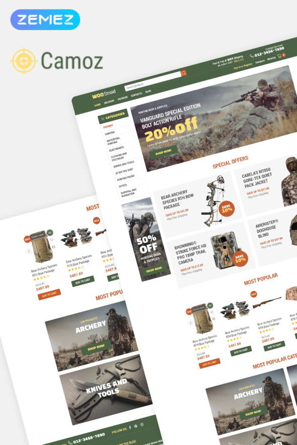 Online Weapon WooCommerce Theme