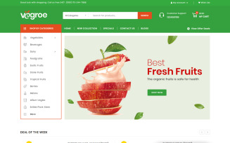 Vegroe - Grocery Shop OpenCart Template