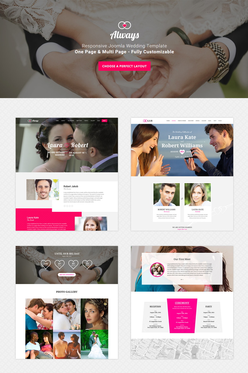 ALWAYS - Responsive Wedding Joomla Template