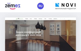 Artfactor - Interior Design Modern Ready-to-Use Ru Website Template