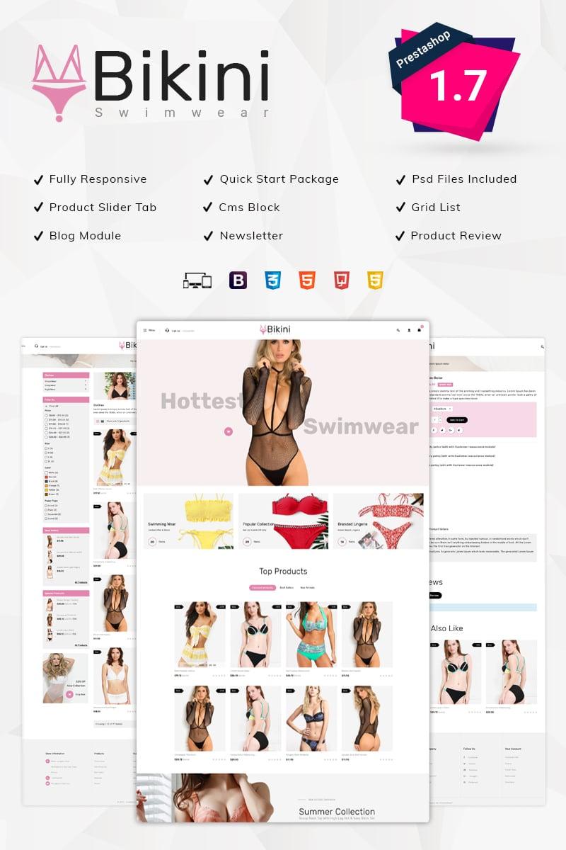 Bikini Swimwear Store PrestaShop Theme