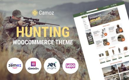 Camoz - Hunting ECommerce Classic Elementor WooCommerce Theme