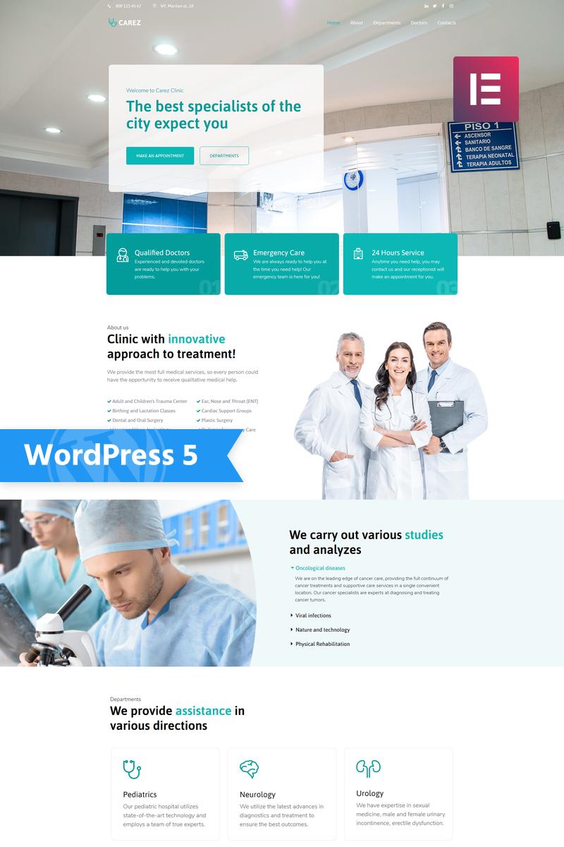 Carez - Medical Services Multipurpose Clean Elementor WordPress Theme