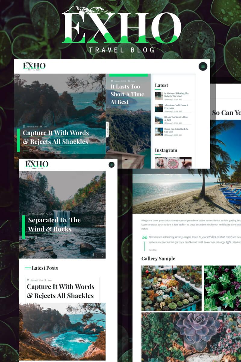 Exho - A Responsive Blog WordPress Theme - screenshot