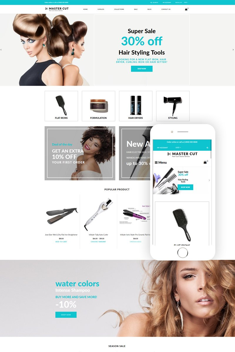 Master Cut - Beauty Clean Shopify Theme