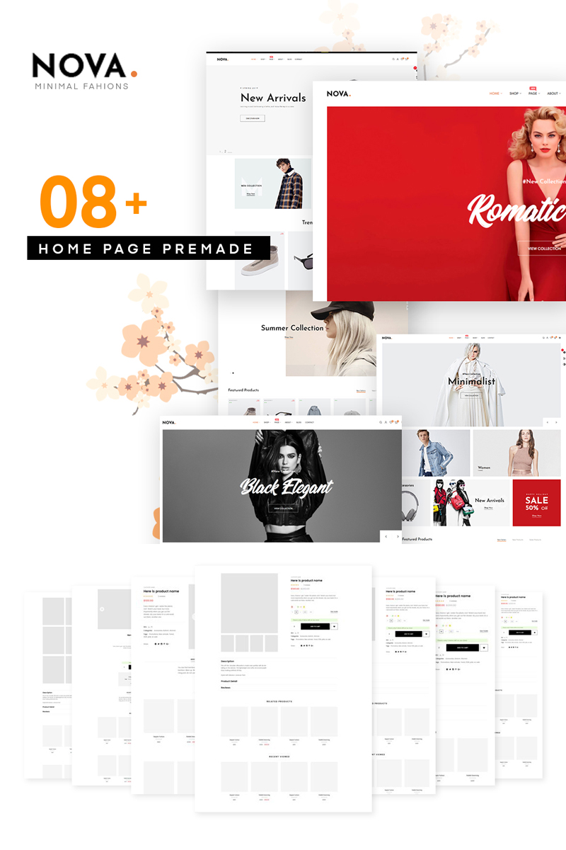 "PrestaShop Theme namens ""Nova - Fashion"" #77808"