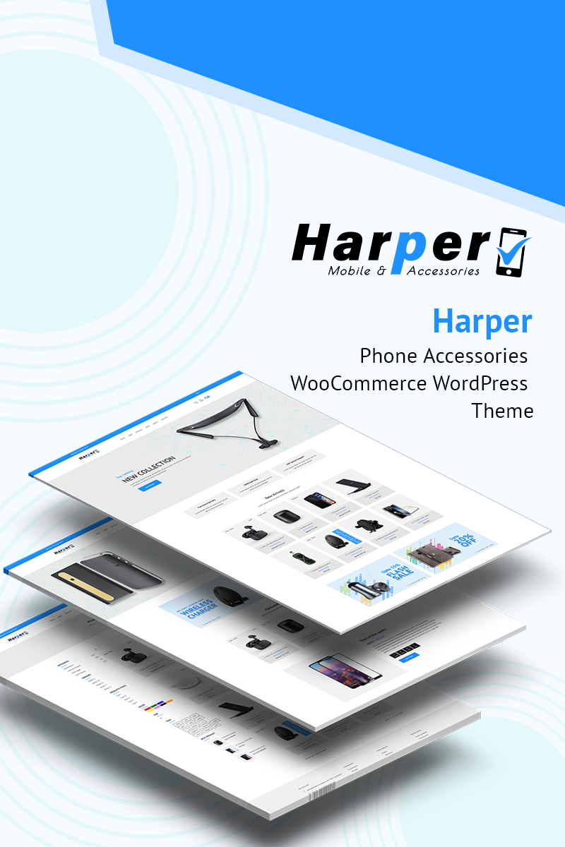 Responsive Harpar - Phone Accessories Woocommerce #77854