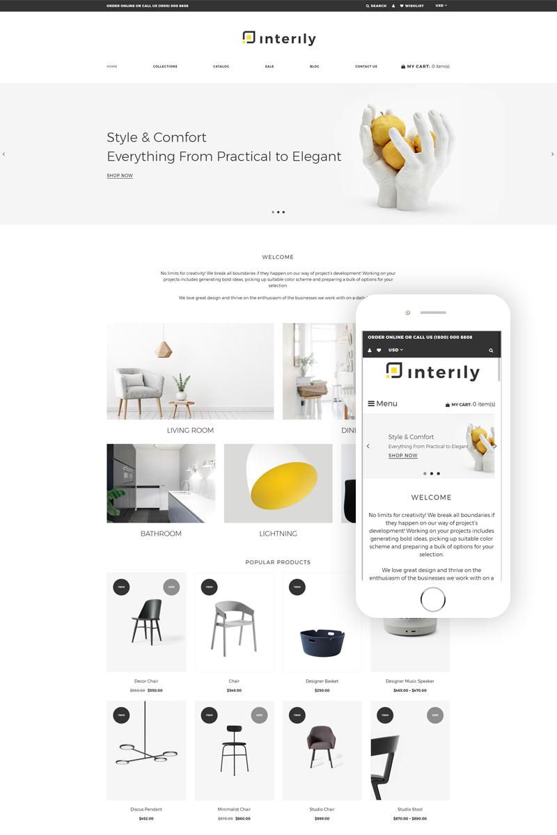 Reszponzív Interily - Interior and Furniture Elegant Multipage Shopify sablon 77800